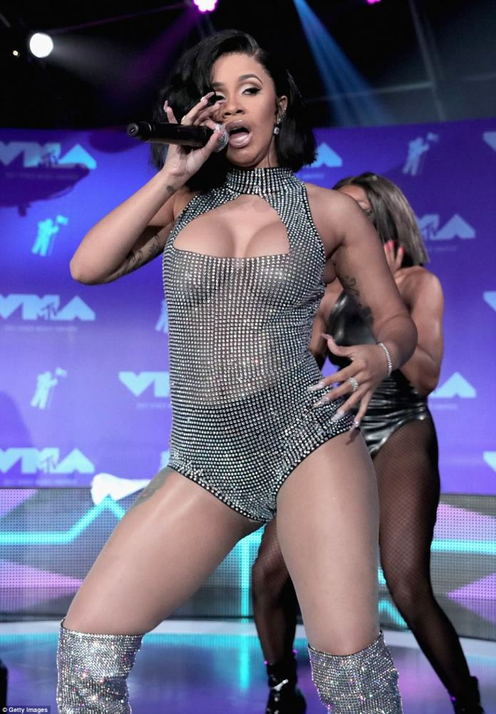 Wow factor: She also performed her hit Bodak Yellow