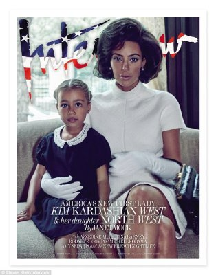 Not an easy road: North's fame is rising. Kim said: 'When I'm out and people call North's name, that's when it's weird for me. She lives such a normal life, believe it or not, at home'
