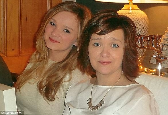 'Brilliant mum': Deborah O'Hara with her daughter Caitlin, now 22