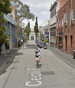 Melbourne cyclist dabbing on Google Street view goes viral   Daily     A cyclist who was caught  dabbing  on a Google Streetview image has  attracted an