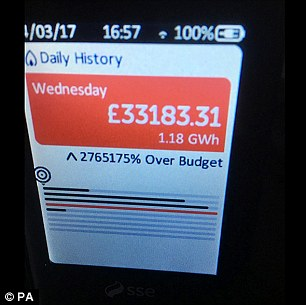 Earlier this year some meters in Britain – supplied by energy provider SSE – gave false readings due to a computer glitch