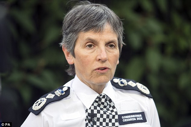 Metropolitan Police Service commissioner Cressida Dick (pictured) said 500 investigations into potential extremist plots were active in July