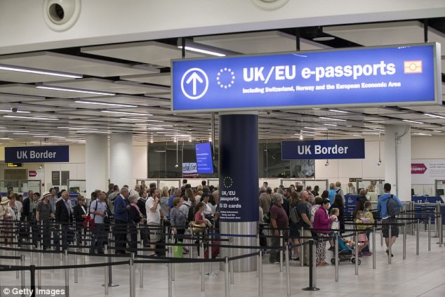 Mr Basu said our borders (file pic, Gatwick Airport) aren't badly controlled but are 'vulnerable'