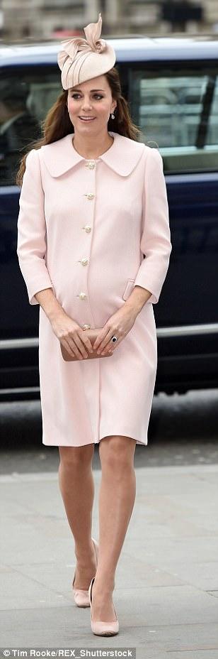 March: Pink Alexander McQueen coat (again)