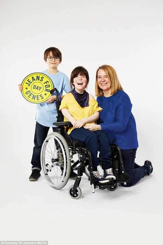 Elvi, Sonny and Sam in a Jeans for Genes charity campaign poster