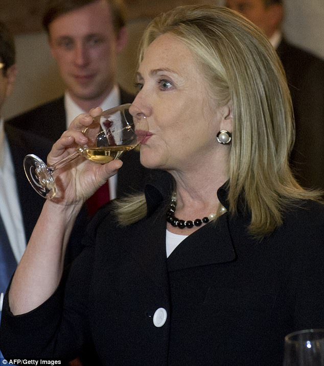 'I drank my share of chardonnay,' Clinton writes in another passage in the book