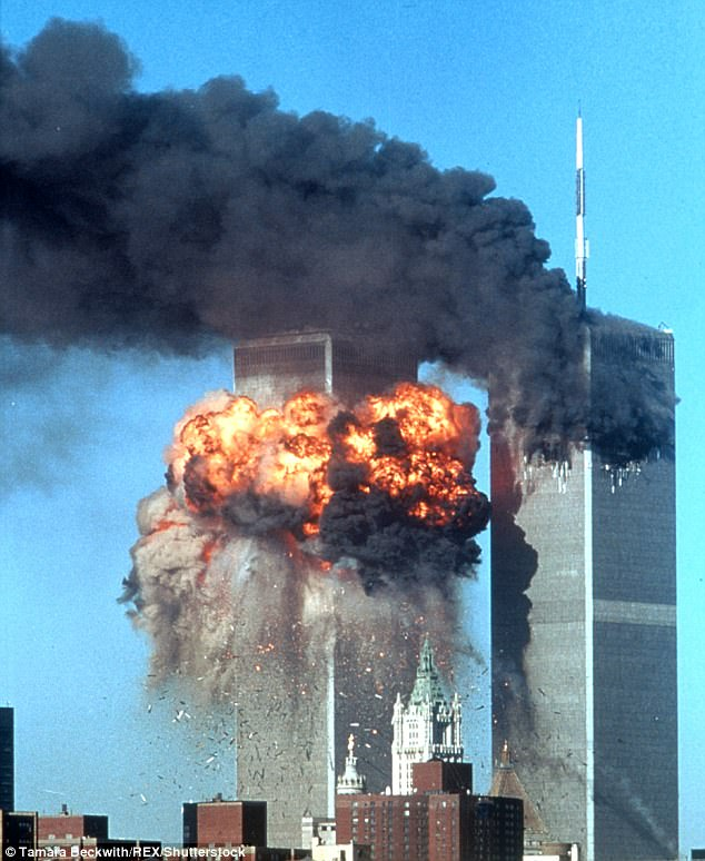 Doubts continue to be cast on the official explanation for the 9/11 terror attacks in New York (pictured)