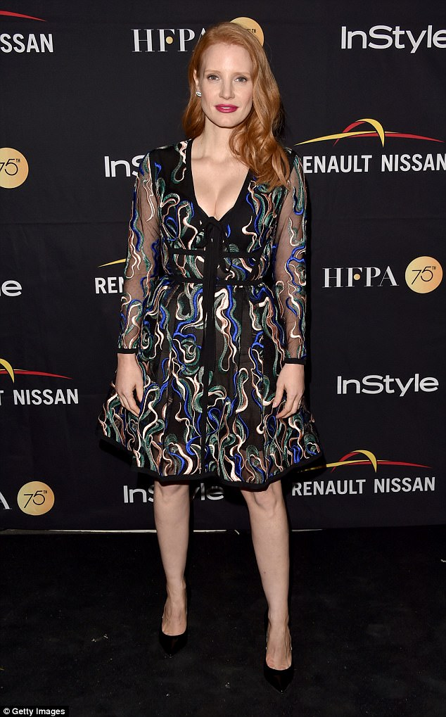 Blonde Emma Stone Rocks An LBD For InStyle Magazine Party