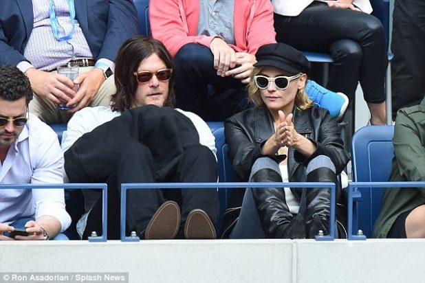 Romance: Diane Kruger, 41, and Norman Reedus, 48, wore casual ensembles at the U.S. Open in New York on Sunday