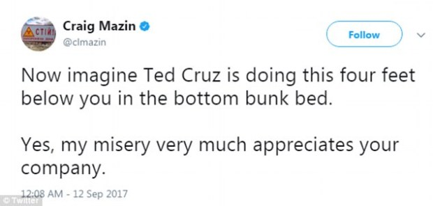 Ted Cruz's college roommate implied this behavior was not unusual for the Texas native