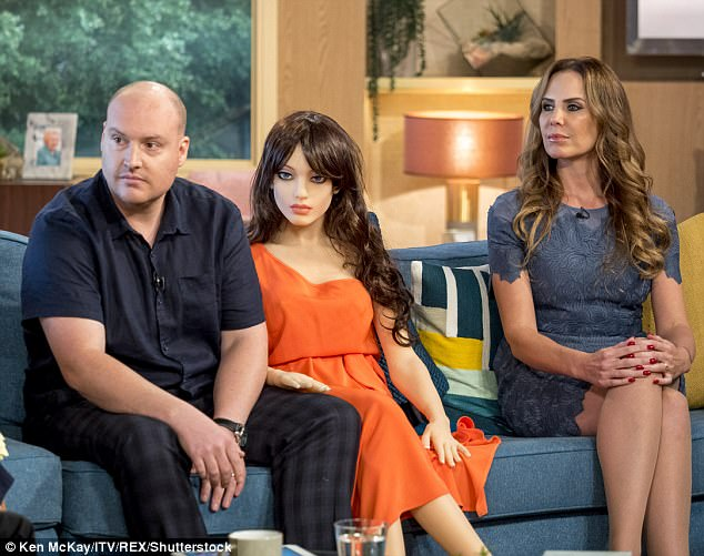 TV psychologist Emma Kenny (right) slammed the idea of a sex robot, saying it 'objectified' women and that they were 'not healthy'