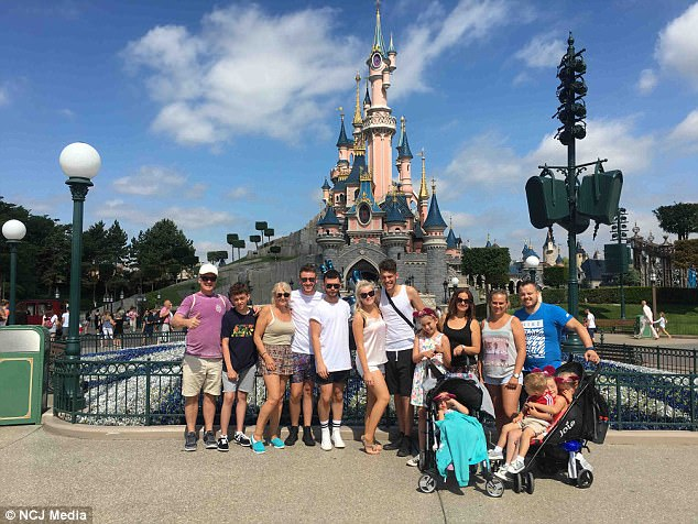 Treasured memories: Annette said her family had a great time at Disneyland but the trip was ruined by the flight mix-up