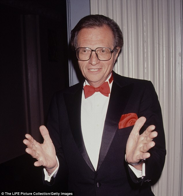 Larry King, pictured in 1990, has secretly been battling lung cancer after being diagnosed during a routine doctors visit in July