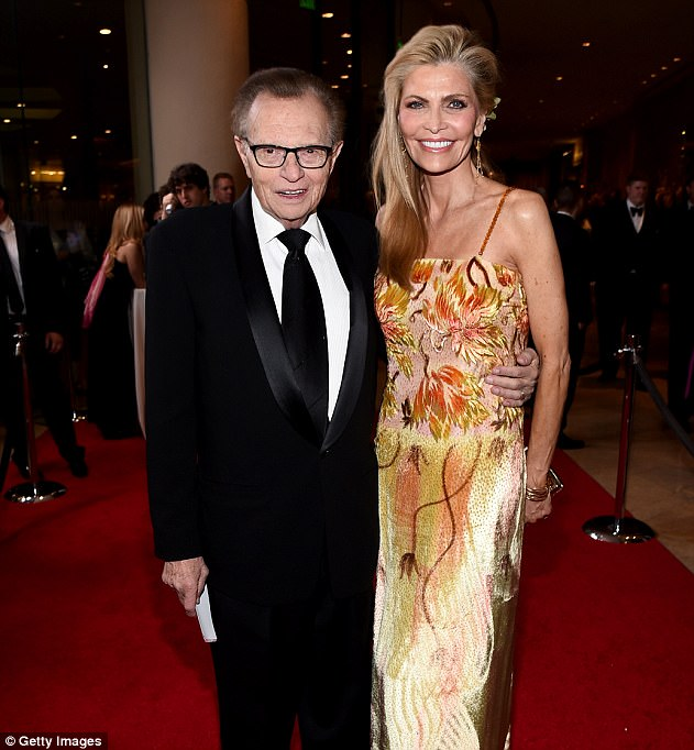 And during his long career, King has been married eight times to seven different women, one of who he married twice. His current wife is Shawn Southwick, a 57-year-old singer, actress and television host. The two are pictured together during the 2014 Carousel of Hope Ball in Beverley Hills