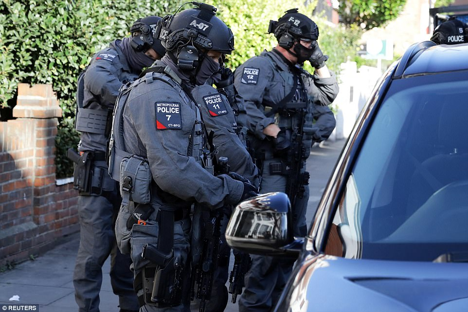 Elite armed counter-terrorism police are at the scene amid reports of the suspect being on the run and claims of a second device