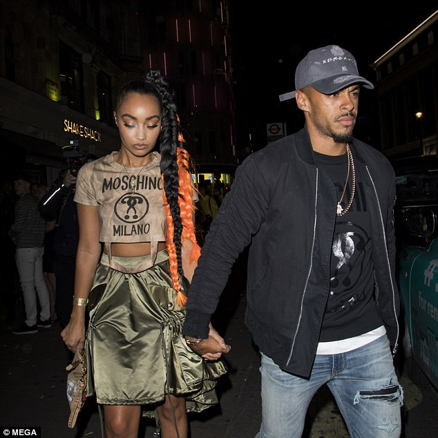 Gray is pictured out with girlfriend and Little Mix singer Leigh-Anne Pinnock