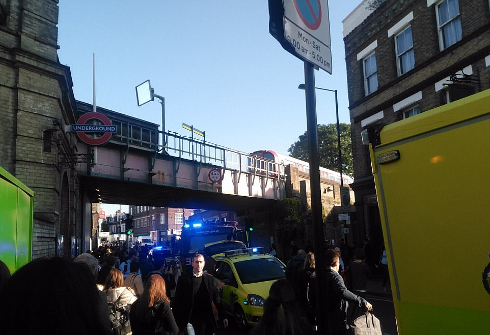 People fled the Underground station in panic, amid reports there was an explosion