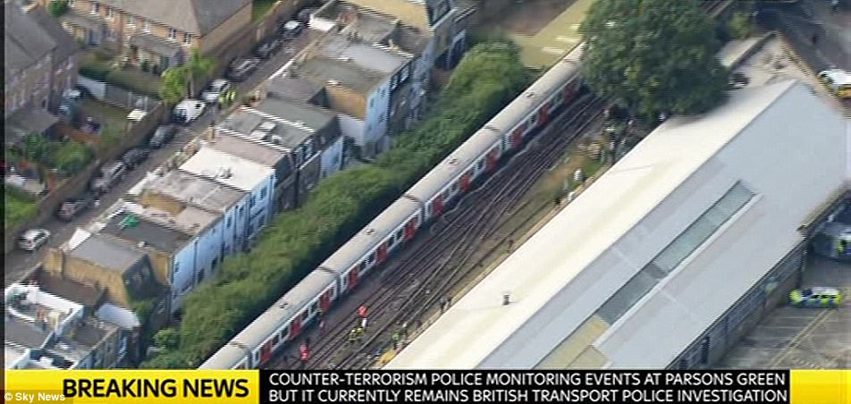 Horrified witnesses on social media claim there was a stampede as people were 'screaming and running off trains'