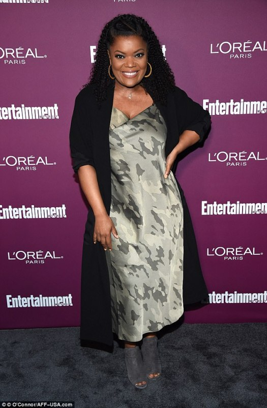 Shine bright:Yvette Nicole Brown sparkled in a metallic gown