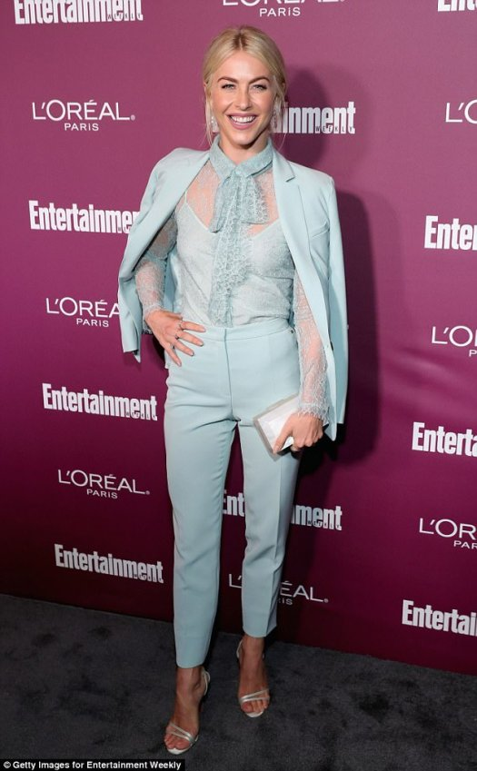 Dance it out: Julianne Hough - who will not be judging on Dancing With The Stars this season - rocked a throwback look