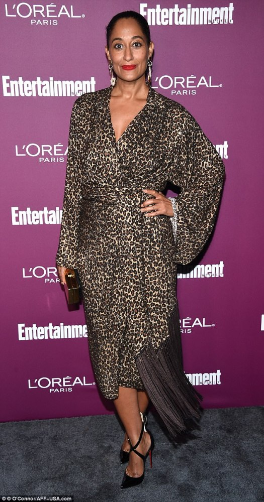 Wild thing: Tracee Ellis Ross wore leopard print