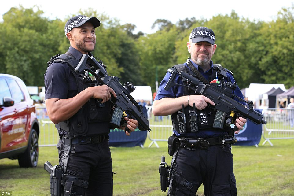 In Liverpool Armed officer were present at the city's Food & Drink Festival at Sefton Park