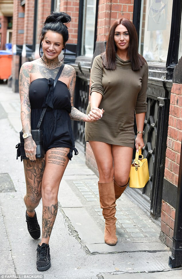 Gal pals:Jemma Lucy decided to squeeze in some quality time with her best friend Charlotte Dawson as they headed out for lunch in Manchester on Saturday