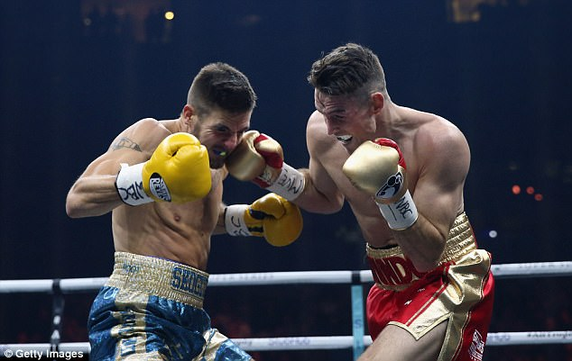 Erik Skoglund (left) and Smith put on a hugely entertaining fight in Liverpool