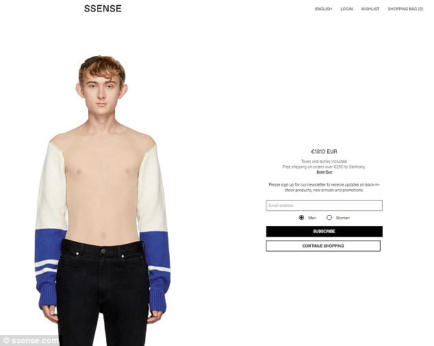 The item is sold out on the popular Montreal's site and has a higher price value as well