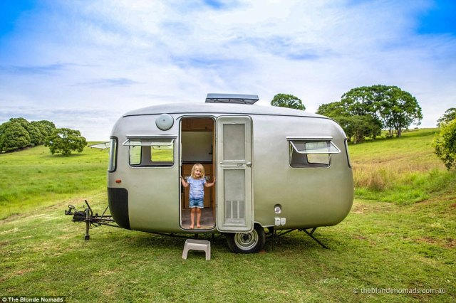 The young couple decided to walk away from their modern suburban life to go travelling around Australia in a caravan