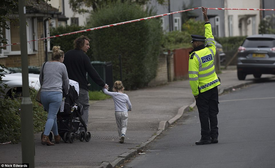 Around 60 residents in the surrounding area were evacuated from their homes as armed police carried out the raid