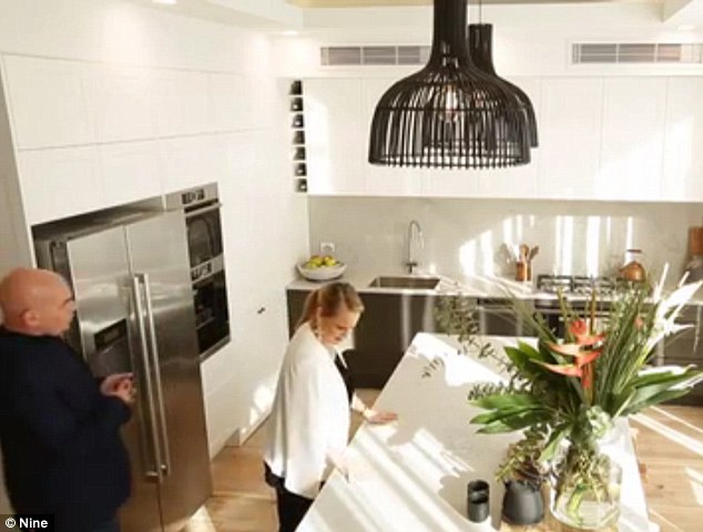 Luxe: Josh and Elyse finished on the full 30 marks from the judges for their stunning kitchen and butler's pantry (seen)
