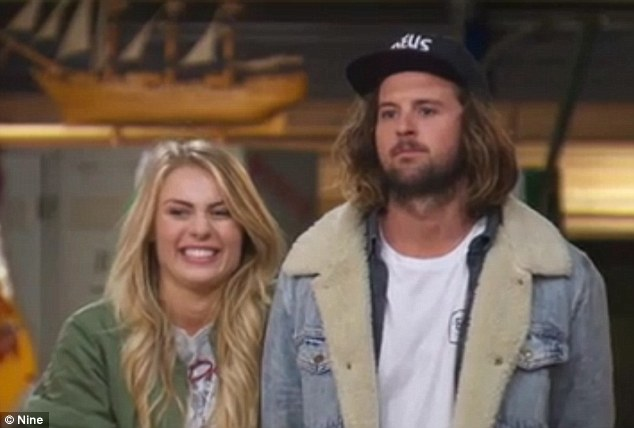 'Hopefully they can keep up!' The Block's Josh Barker and Elyse Knowles take a swipe at fuming rivals Georgia and Ronnie as they win kitchen week... As they're named as the pair to beat