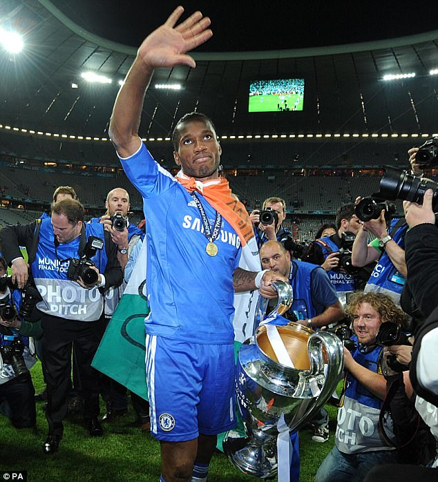 Drogba scored 100 Premier League goals, winning four titles, as well at the Champions League