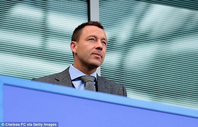 Former Chelsea captain John Terry was able to enjoy a stress-free fixture against Arsenal