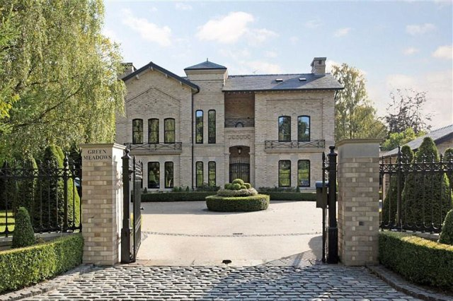 The property, called Green Meadows, is constructed in an Italian style over four floors, with a private gated entrance