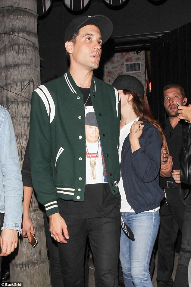 Caught: Here the singers were seen at a club in Hollywood in May