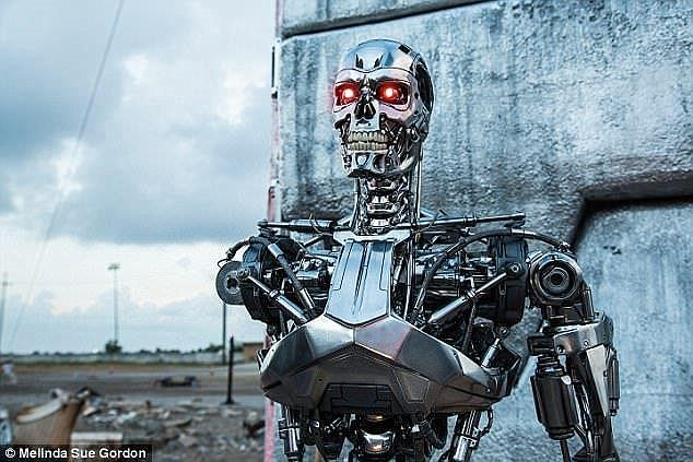 Advanced AI systems of the future will need more powerful chips to allow them to process vast amounts of data. The US military announced it is investing $900 million on materials and technologies to make these processors a reality (stock image from The Terminator)