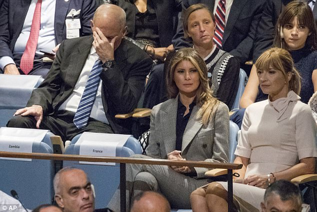 John Kelly did not appear to be enjoying President Trump's speech to the UN on Monday