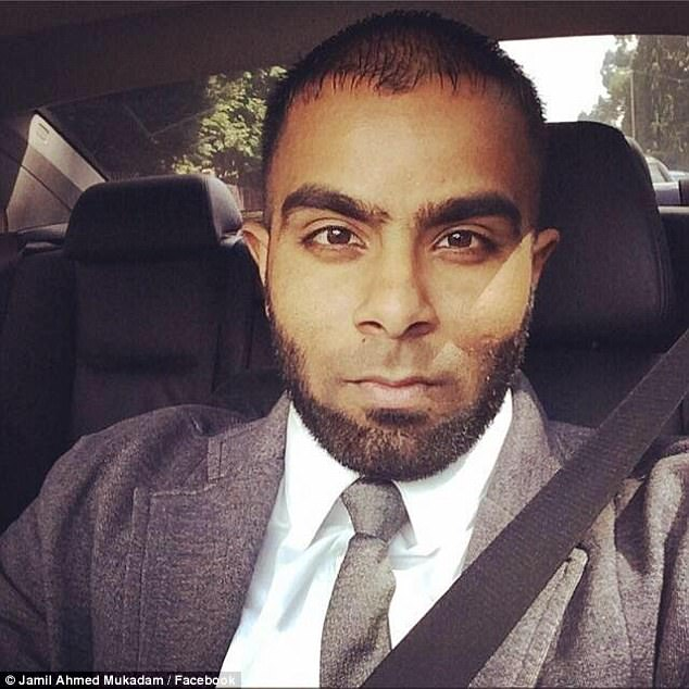 Jamil Mukadam, pictured, was arrested after returning to Dubai over an alleged road rage incident during a previous visit to the UAE in February when he was driving a hire car