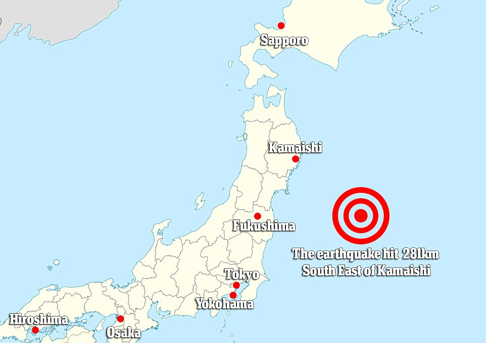 A 6.1 magnitude earthquake struck overnight off the coast of Japan