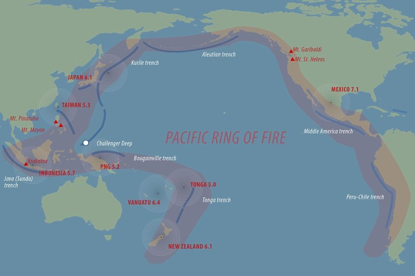 Earthquakes in New Zealand, Japan, Vanuatu, Indonesia, Tonga, Taiwan, and Papua New Guinea over past 24 hours could be caused by seismic waves travelling along fault lines
