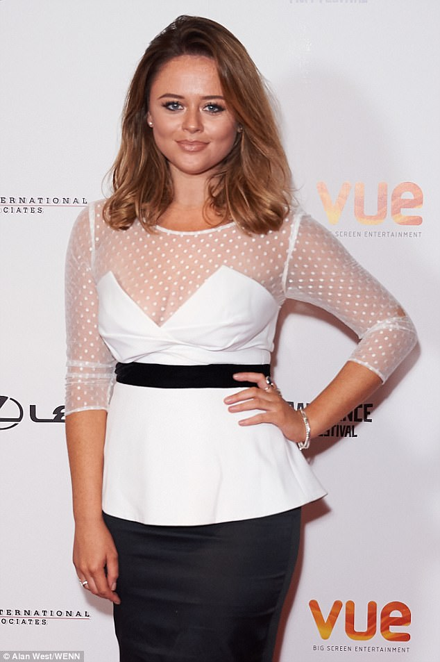 Emily Atack Stuns In Empire Dress At Lies We Tell Premiere