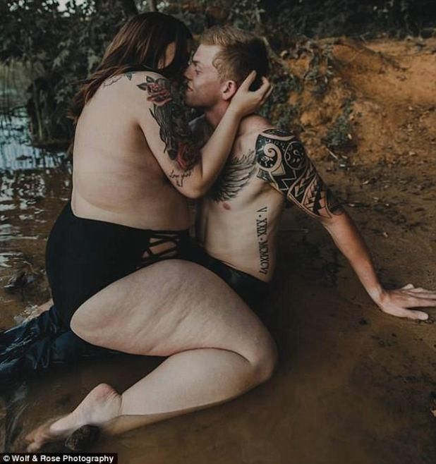 Stephanie, from Texas, says she has been fired from her job at a bank after her steamy photoshoot with her fiance Arryn went viral