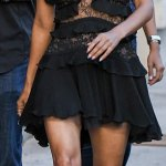 Halle Berry,51 Brings Sexy Back In LBD For Jimmy Kimmel Live