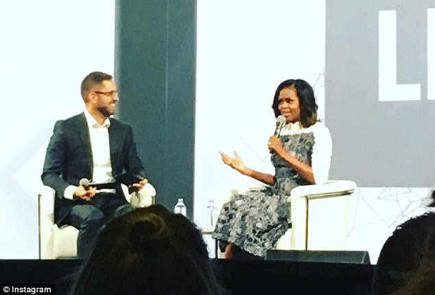 Michelle Obama said the United States is being ¿tested,¿ but she¿s ¿hopeful¿ for the future