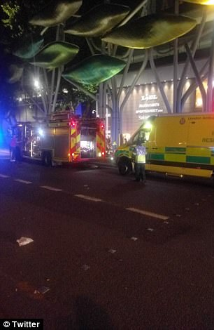 Witnesses saw dozens of ambulances and police cars racing to Stratford tube station in the east of the capital