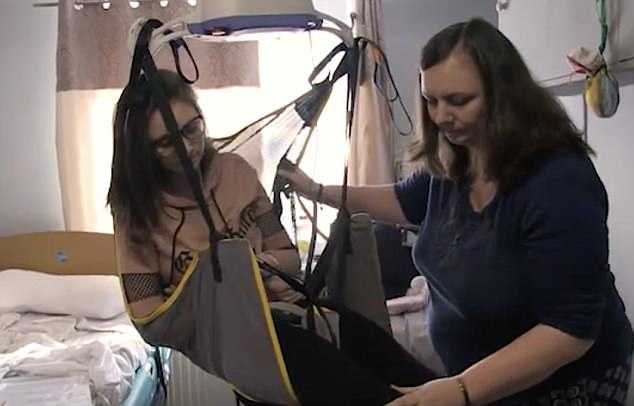 Ruby Shallom, 16, who was left paralysed in three limbs after having the HPV vaccination, features in the new documentary