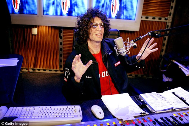 Trump was a regular guest on Howard Stern's (pictured) show during the 1990s and early 2000s, where the pair would have misogynistic and lewd conversations about sex and women