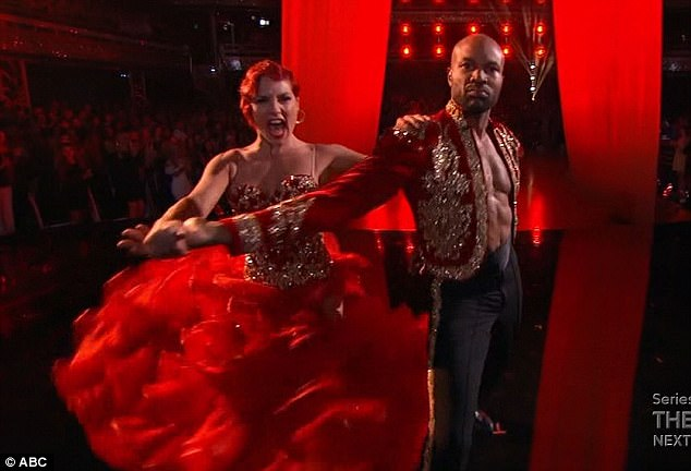 Hoops star: Derek Fisher performed a paso doble with Sharna Burgess